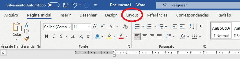 trabalhando com seções no Word - Layout